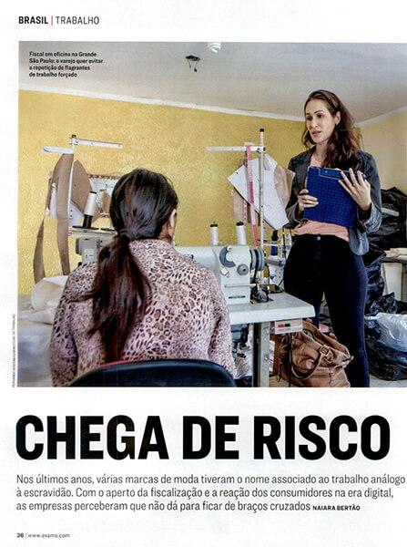 Revista Exame aborda o combate ao trabalho análogo ao escravo na indústria têxtil